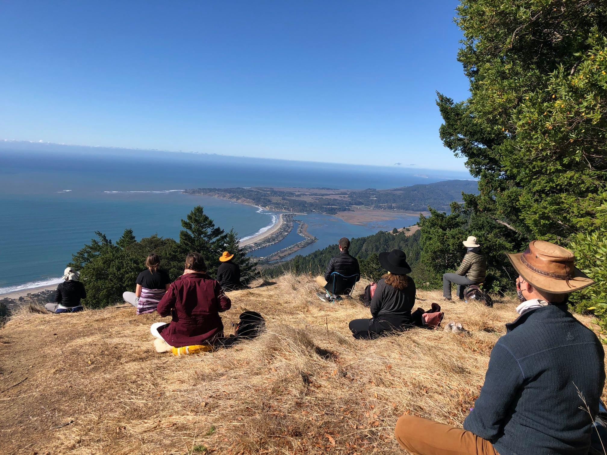 Meditating in the Marin Headlands